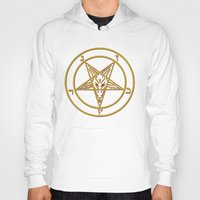 baphomet Hoodies featuring Courting Baphomet by Framed In Blood Art