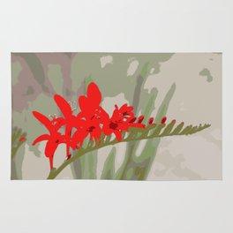 Better Off Red Big and Bold Art Print Pop Art Flower Rug