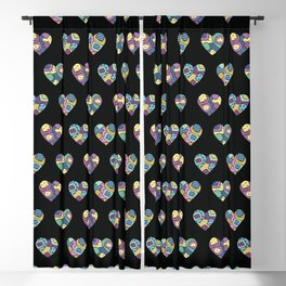 patchwork hearts Blackout Curtain