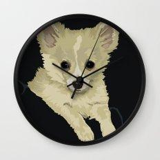 Long Hair Chihuahua Wall Clock
