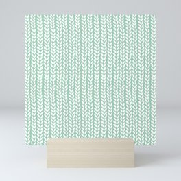 Knit Wave Mint Mini Art Print