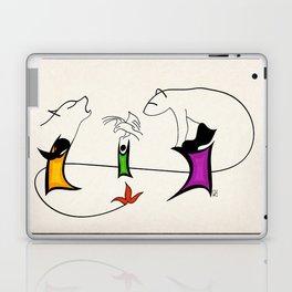 Three ghosts Laptop & iPad Skin