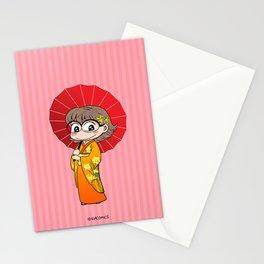 Eva in Kimono Stationery Cards