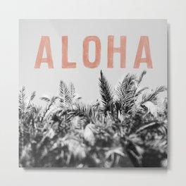 Aloha Palms Metal Print