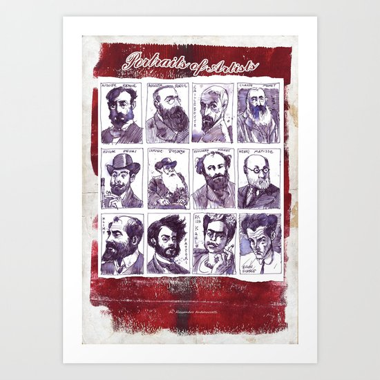 Portraits of artists Art Print