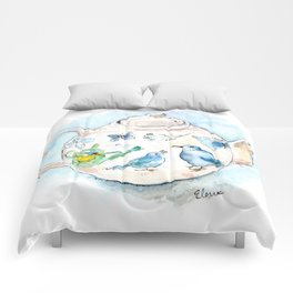 Tea in Wonderland Comforters
