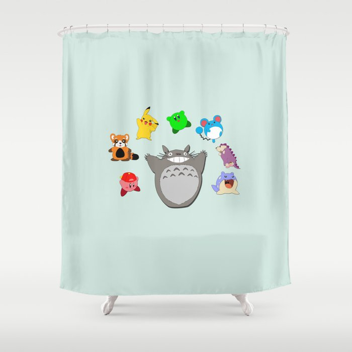 Nice Video Game Anime Character Rainbow Shower Curtain