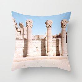 Temple of Dendera, no. 3 Throw Pillow