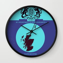 Vintage map cover of Scotland. Wall Clock