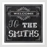 the smiths Art Prints featuring The Smiths by Jason Michael