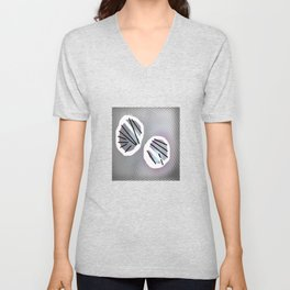 Line and metal Unisex V-Neck
