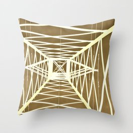 Electric pylon - Abstract Monochrome Throw Pillow