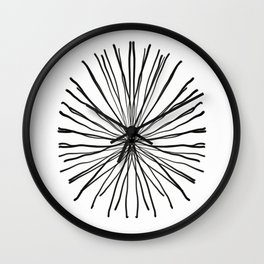 Black Coral Wall Clock