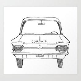 Corvair 1964 Art Print