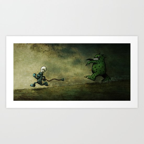Run for Bulb Art Print
