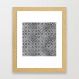 Silver Double Happiness Symbol pattern Framed Art Print