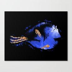 Blue Tang Reef Canvas Print