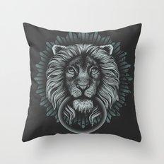 Stone Lion Throw Pillow