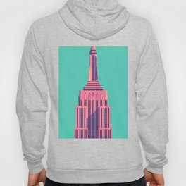 Empire State Building New York Art Deco - Green Hoody