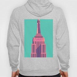 Empire State Building New York Art Deco - Green Hoody