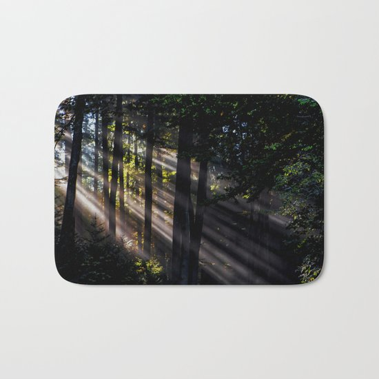 Pathless Woods #spring #forest Bath Mat