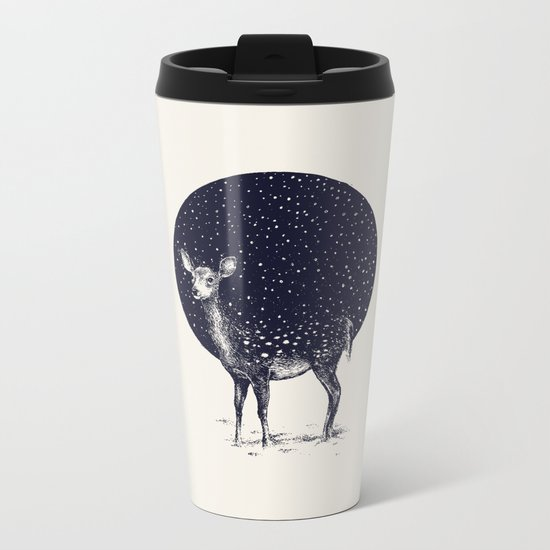 Snow Flake Metal Travel Mug