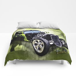 1934 Ford Three Window Coupe Hot Rod Comforters