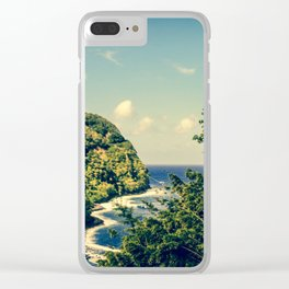 Honomanu Highway to Heaven Road to Hana Maui Hawaii Clear iPhone Case