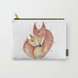 Red winter foxes Carry-All Pouch