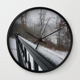 Snowy Rail Wall Clock