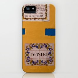 Yellow Wall iPhone Case