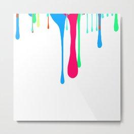 Dripping Paint Metal Print