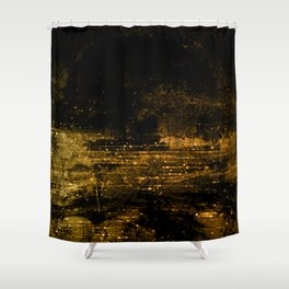 Gold Sparkles Shower Curtains