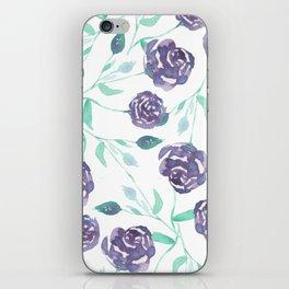 Purple Rose Bush iPhone Skin