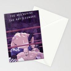 Rattlesnake VS Wolverine Stationery Cards