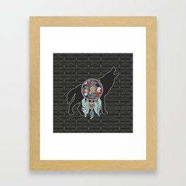 Wolf Native American Animal Spirit Dream Catcher Framed Art Print