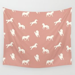 Horse Print (Warm Taupe) Wall Tapestry