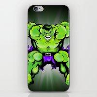 hulk iPhone & iPod Skins featuring Hulk by Liam Sweeney