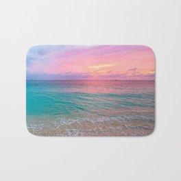 Aerial Photography Beautiful: Turquoise Sunset Relaxing, Peaceful, Coastal Seashore Bath Mat