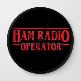 Strange Ham Radio Operator Wall Clock