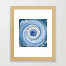 Blue swirl Framed Art Print