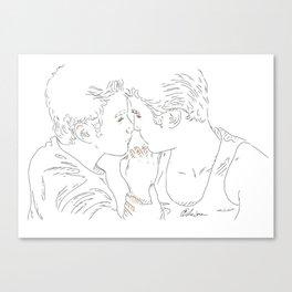 Kurt+Blaine Canvas Print