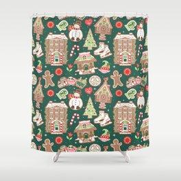 Gingerbread Lane Shower Curtain