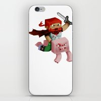 gore iPhone & iPod Skins featuring Hoojo of Minecraftia - Gore Edition by Angry Adventure