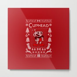 Ugly Sweater / Cuphead Metal Print