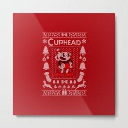 Ugly Sweater / Cuphead Metal Print
