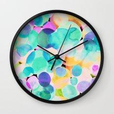 Polka Dot Ice Blue Wall Clock