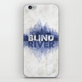 Blind River Trees (blue) iPhone Skin