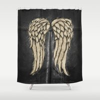 daryl dixon Shower Curtains featuring Daryl Dixon Team. ‹(-- by Emiliano Morciano (Ateyo)