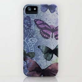 Butterflies Mandala iPhone Case